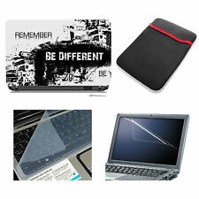 Be Different Laptop Accessories Combo 4in1 (Skin, Sleeve, Screen & Key Guard)15""