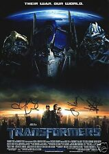 TRANSFORMERS CAST AUTOGRAPH SIGNED PP PHOTO POSTER