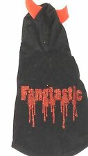 Pet Hoodie Devil Fantastic Dog Halloween Costume Black Red NWT Simply Dog Sz XS