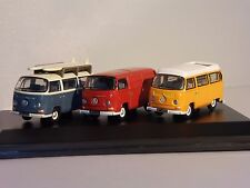 VOLKSWAGEN T2 3 Camper / Bus / Van Set 1/76 scale model by Oxford Diecast