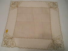 LADIES VTG EMBROIDERED NET LACE COTTON HANDKERCHIEF * HANKY HANDKY'S NWL