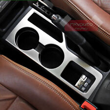 New S.Steel Cup Holder Chrome Cover Trim For Jeep Compass Patriot 2011-2016