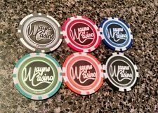 WAYNE CASINO POKER CHIPS SDCC 2011 Batman Flashpoint Set of 6 chips Collectible