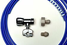American Fridge Freezer Plumbing  Kit 4M Pipe, Selfcut Valve,Adaptor,Fridge Conn