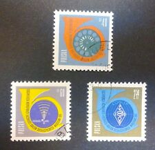 POLAND STAMPS Fi1100-02 SC991-3 Mi1100-02-Conference of Communications,1961,used