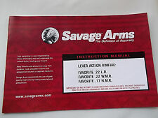 OWNER'S MANUAL GUIDE SAVAGE FAVORITE SINGLE SHOT RIFLE, dated 06/2002