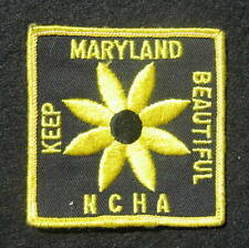 MARYLAND - NCHA EMBROIDERED SEW ON ONLY PATCH NATIONAL CUTTING HORSE EQUINE 3""