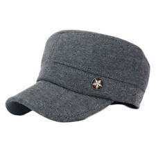 Men Women Classic Adjustable Army Plain Hat Cadet Military Baseball Sports Cap