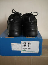 Swift Challenger quality Performance Style Black Satety metal toe cap Boots UK 6