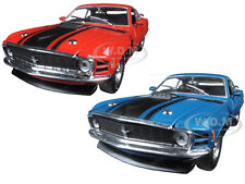 1970 FORD MUSTANG BOSS 302 RED AND AQUA SET OF 2 CARS 1/24 BY M2 40300-48A&B