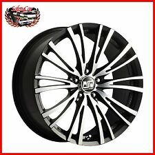 "Cerchio in lega OZ MSW 20/5 Matt Black Full Polished 17"" Bmw SERIES 1"