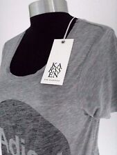 New Deconstructed Cut ZOE KARSSEN ADIEU T-SHIRT, XS Grey