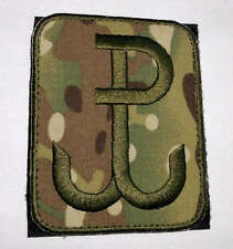 "Polish ARMY PATCH worn on arm ANCHOR special force GROM ""PW - Polish Fighting"" c"