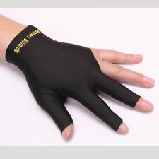 BK BL RD Spandex Snooker Billiard Cue Glove Left Hand Three Finger Gloves NEW
