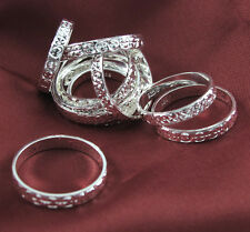 Wholesale NEW Silver Carving Rings MIX SIZE 4-10 10pcs/lot