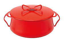DANSK #834302 CHILI RED SIX QUART CASSEROLE BRAND NIB ENAMEL COOKWARE SAVE$ F/SH