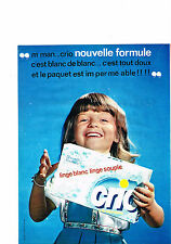 PUBLICITE ADVERTISING  1963    CRIO    lessive paquet imperméable