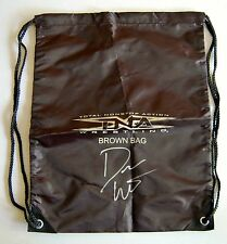 Don West TNA Wrestling Brown Bag AUTOGRAPHED NEW Backpack wwe roy wwf