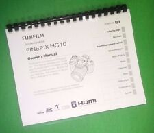 COLOR PRINTED Fujifilm FinePix HS10 HS11 Instruction Manual Guide 151 Pages
