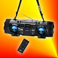 AEG SR 4360 Bluetooth Ghettoblaster MP3 CD Player USB AUX Radio Stereoanlage
