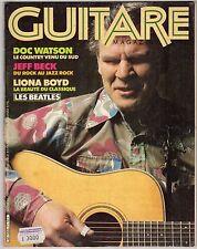 rivista GUITARE MAGAZINE ANNO 1981 NUMERO 11 WATSON BOYD BECK