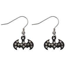 BATMAN gioiello in ORO pendente orecchini-DC COMICS in acciaio inox gioielli NERO