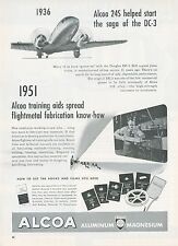1951 Alcoa Aluminum Ad Douglas DC-3 Airplane Aircraft of 1936