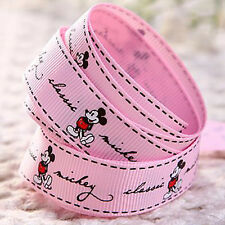 Free Shipping Disney 5 Yards 5/8''16mm printed Mickey Mouse Grosgrain Ribbon