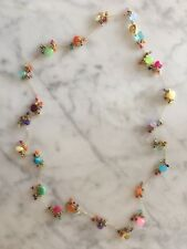 """Tashka by Beatrice 14K Gold Plated Necklace 36"""" With Semi Precious Gem Beads"""