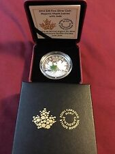 1 oz Fine Silver Coin - Majestic Maple Leaves with Jade