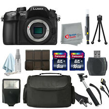 Panasonic Lumix DMC-GH4 Mirrorless Digital Camera Body 24GB Deluxe Kit