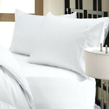 1000 Thread Count Egyptian Cotton 1000 TC Bed Sheet Set  SPLIT KING  White Solid