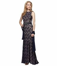 Alex Evenings® Long Lace Dress  with Shawl (size 10P)