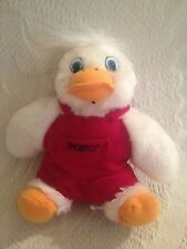 "6"" Sporto Duck Shoes Boots Plush Stuffed Advertising Mascot Red Overalls 1997"