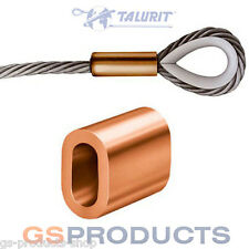 1mm Copper Steel Wire Rope Ferrule Crimp Sleeve FREE P+P