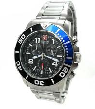 Swiss Military Hanowa 06-5262.04.007.03 checkerboard señores reloj Chrono acero inoxidable