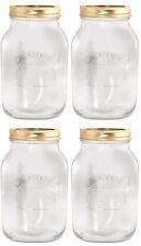 4 x Kilner vetro preservare Jar 0,5 L Screw Top marmellata salsa vuoto sigillo FRUTTA VERDURA