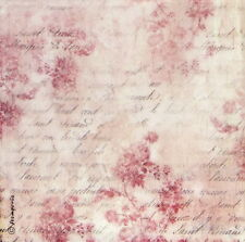 Ricepaper/Decoupage paper,Scrapbooking Sheets Pink Buttercups and Writing