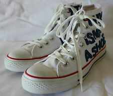 CONVERSE CHUCK TAYLOR ~ White Blue IT'S A MANIA Canvas High Top Sneakers M 6 W 8