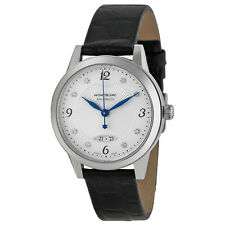Montblanc Boheme Automatic Silver Dial Black Leather Ladies Watch 111055