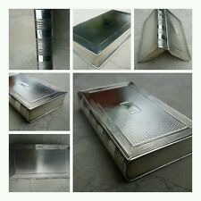 ANTIQUE 19thC GEORGIAN SOLID SILVER NOVELTY BOOK SHAPED SNUFF BOX, LONDON c.1819