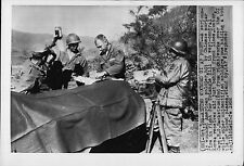 Doctor R.G. Backstron At Front on Triangle Mountain 1952 Korea War Press Photo