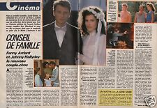 Coupure de presse Clipping 1986 Fanny Ardant & Johnny Hallyday (2 pages)