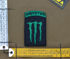 """Ricamata / Embroidered Patch """"M**ster Energy"""" Green with VELCRO® brand hook"""