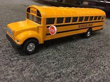 """7"""" Yellow School Bus Diecast Metal Model pull back N action openable Door"""