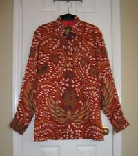 NWT ~ IWAN TIRTA Hand Drawn Batik Men's Long Sleeve Shirt ~ SZ L