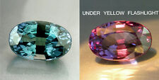 1.30cts. RARE NATURAL CROWN COLOR-CHANGE ALEXANDRITE OVAL LOOSE GEMSTONE