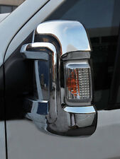 CHROME DOOR WING MIRROR TRIM SET COVERS CAPS FOR CITROEN RELAY / JUMPER