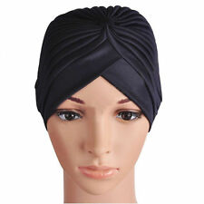 Unisex Indian Stretchable Turban Hat Hair Head Wrap Cap Headwrap Satin Bonnet