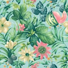 Grandeco Botanical Fruit Flower Pattern Wallpaper Tropical Floral Motif Textured